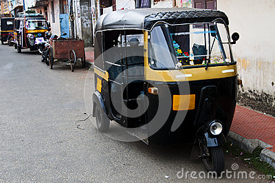 Tut-tuk - Auto rickshaw taxi in India