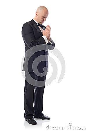 Tuxedo praying