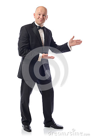 Tuxedo presenting