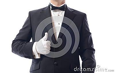 Tuxedo thumbs up