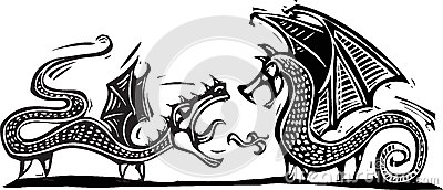 Två drakar