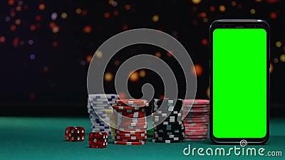 Två tärnar att falla nära att spela tecken, online-kasinoapplikationen, möjlighet att segra arkivfilmer