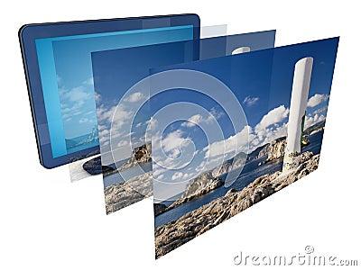 TV 3D image