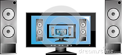 TV with audio system