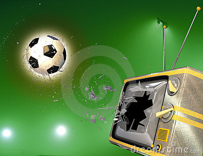 tv broken by soccer ball