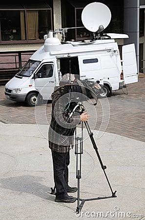 TV cameraman Editorial Photo