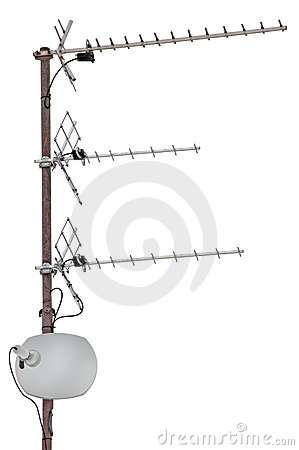 TV communication aerials residential isolated
