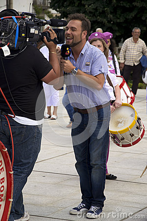 TV Correspondent Editorial Photography