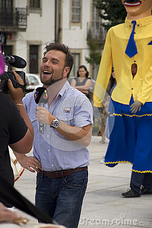 TV Correspondent Editorial Photography