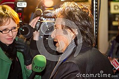 Tv för rte för alintervjupacino Redaktionell Fotografering för Bildbyråer