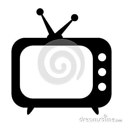 Free TV Icon, Retro TV Stock Images - 122573884