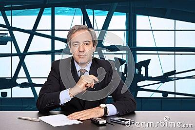TV News reporter Stock Photo