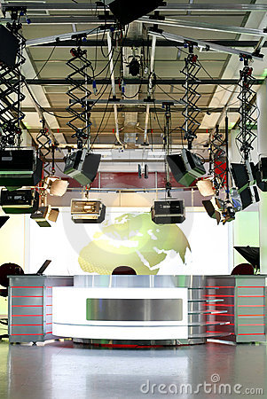 TV news studio setup - television interior