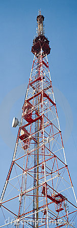 Free TV Or Communications Tower Vertical Panorama Stock Photography - 8744822