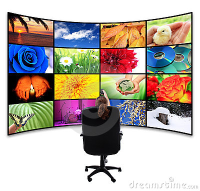Free Tv-Panel With Remote Control Stock Photography - 18277632