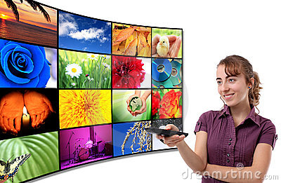 Tv-Panel with a woman