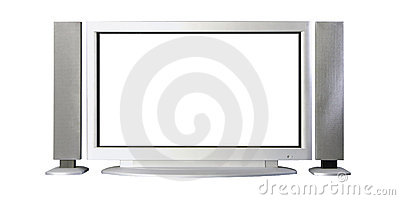 Tv plasma with audio speakers