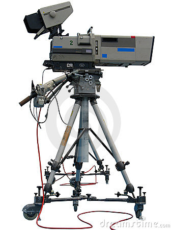 Free TV Professional Studio Digital Video Camera Stock Image - 15888361
