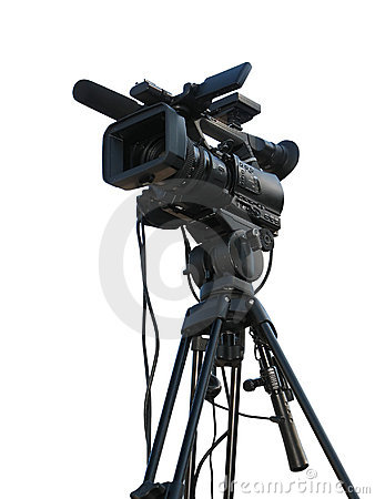 Free TV Professional Studio Digital Video Camera Stock Image - 17086001