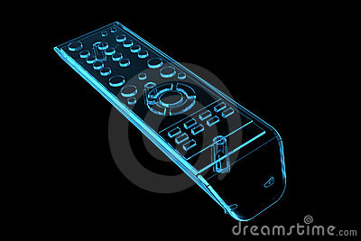 TV remote (3D xray blue)