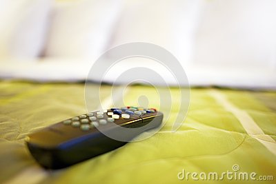 TV Remote on Bed