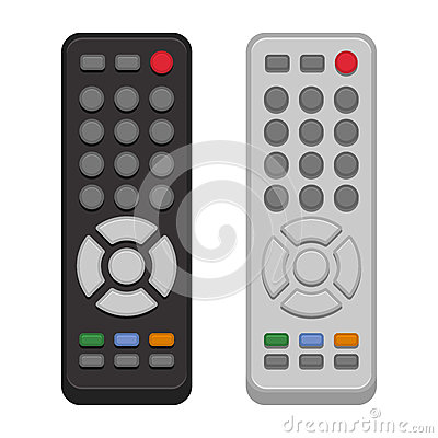 Free TV Remote Control Set On White Background. Vector Royalty Free Stock Image - 74685816