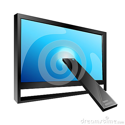 TV and Remote control, vector