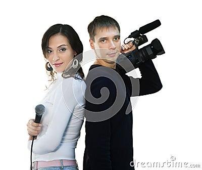TV reporter and teleoperator