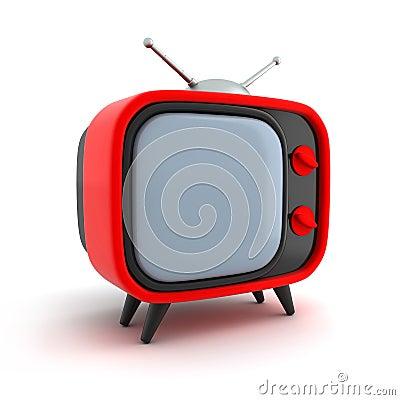 TV retro red