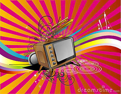 Tv retro vector
