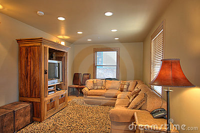 TV room in a nice home