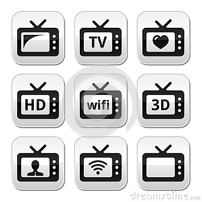 TV set, 3d, HD  buttons