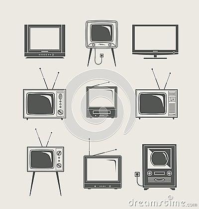 Free Tv Set Icon Stock Image - 24258861