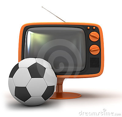 Tv and soccer ball