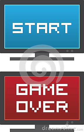 TV Start Game Over Stock Vector - Image: 41939528