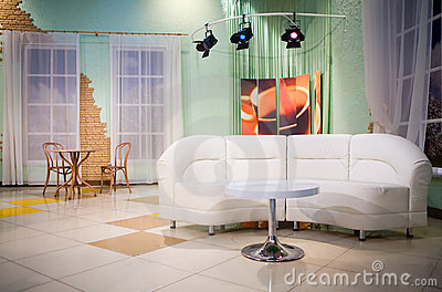 Tv Studio Royalty Free Stock Image - Image: 10046646