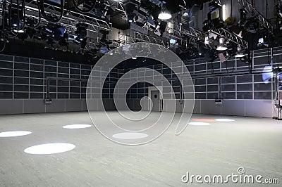 TV studio lighting.