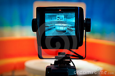 TV studio - Video camera viewfinder