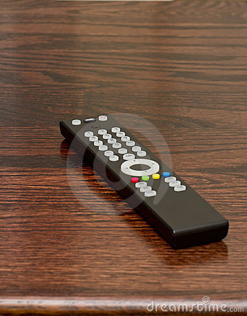 TV or television remote on table