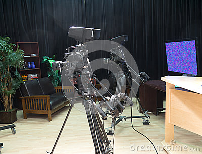 TV television video Studio with Cameras