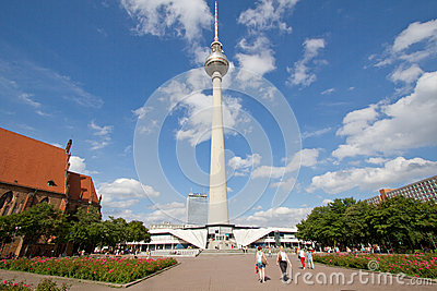 TV tower or Fernsehturm in Berlin, Germany Editorial Photography