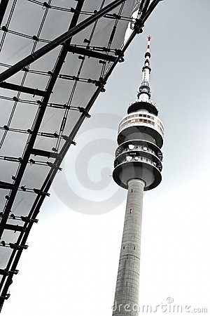 TV tower in Munich (Olympic Park) Editorial Stock Photo