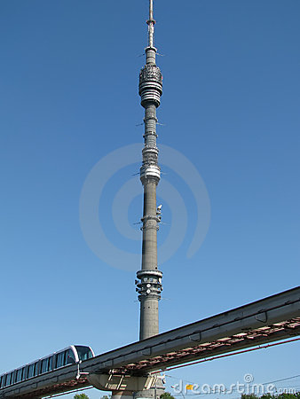 TV tower in Ostankino, Moscow
