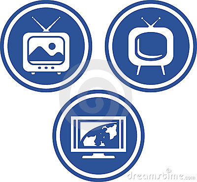 TV - Vector icons