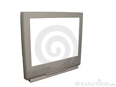 TV with White Screen