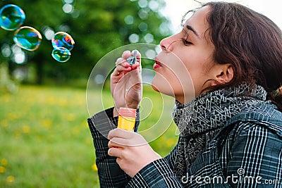 Tvål för blowbubblaflicka