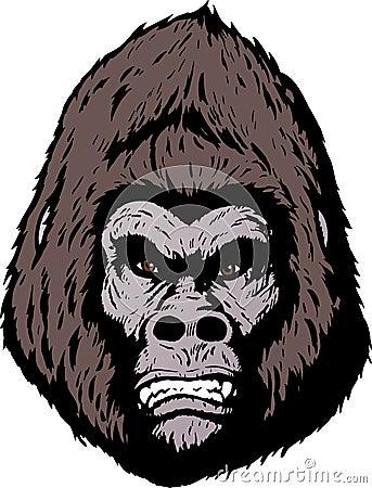 Twarz gniewny goryl