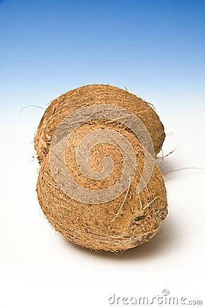 Twee kokosnoten