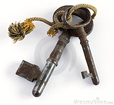 Twee oude sleutels