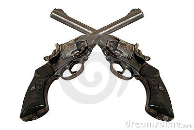 Twee revolvers
